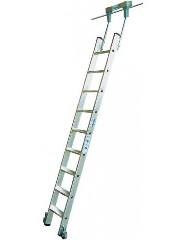 Krause Stabilo Lépcsőfokos Polclétra Cső Vezetősínnel 10 Fokos