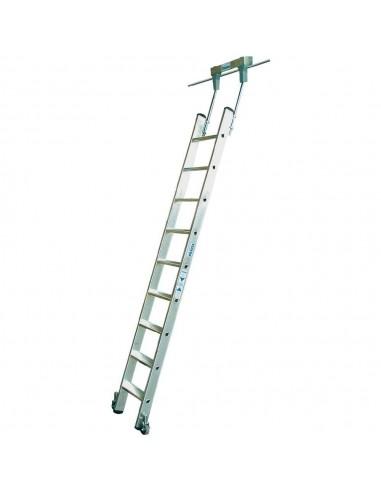 Krause Stabilo Lépcsőfokos Polclétra T-Vezetősínnel 10 Fokos