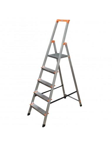 Krause Monto Solidy Lépcsőfokos Állólétra 5 Fokos