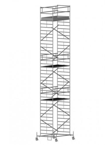 Zarges RollMaster 2T Gurulóállvány futóművel 1,2x2,5 Munkamagasság: 12,55 m