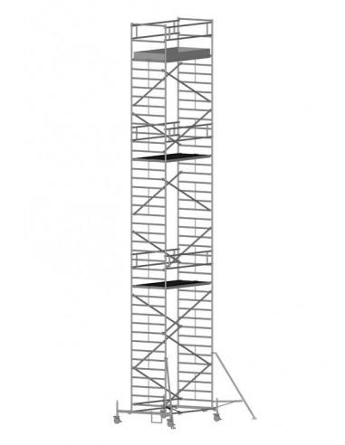 Zarges RollMaster 2T Gurulóállvány futóművel 1,2x2,5 Munkamagasság: 13,65 m