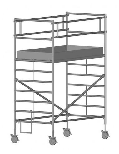 Zarges RollMaster 2T Gurulóállvány futóművel 1,2x2,5 Munkamagasság: 4,50 m