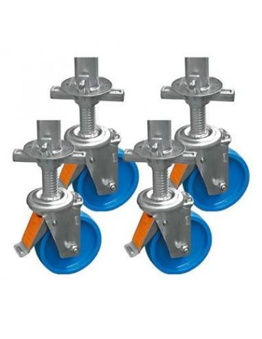 Kerékkészlet (4db) állítható magasságú, átmérő: 150 mm